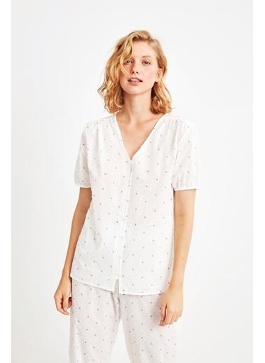 Penye Mood 9024 Pijama Takım Mavi